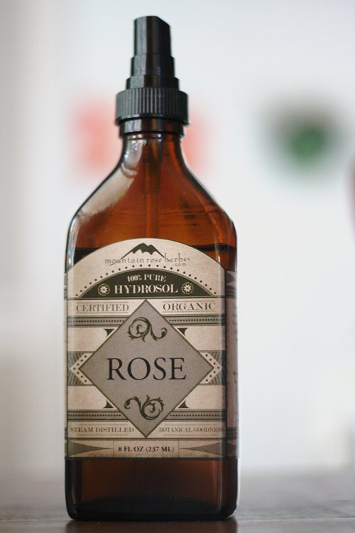 rosewater or rose hydrosol